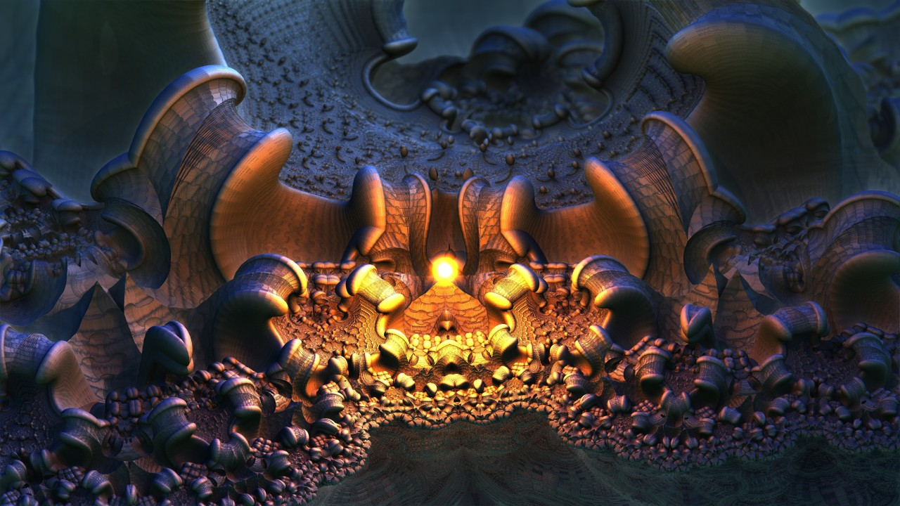 3D Fractal Abyss - Mandelbulb 3D anaglyph stereo fractal side-by-side HD 720p