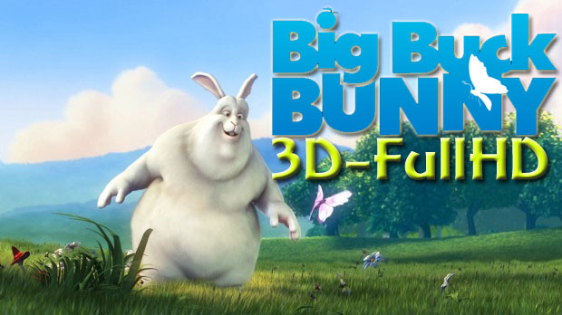 Big Buck Bunny, Sunflower 3D Full HD 30fps