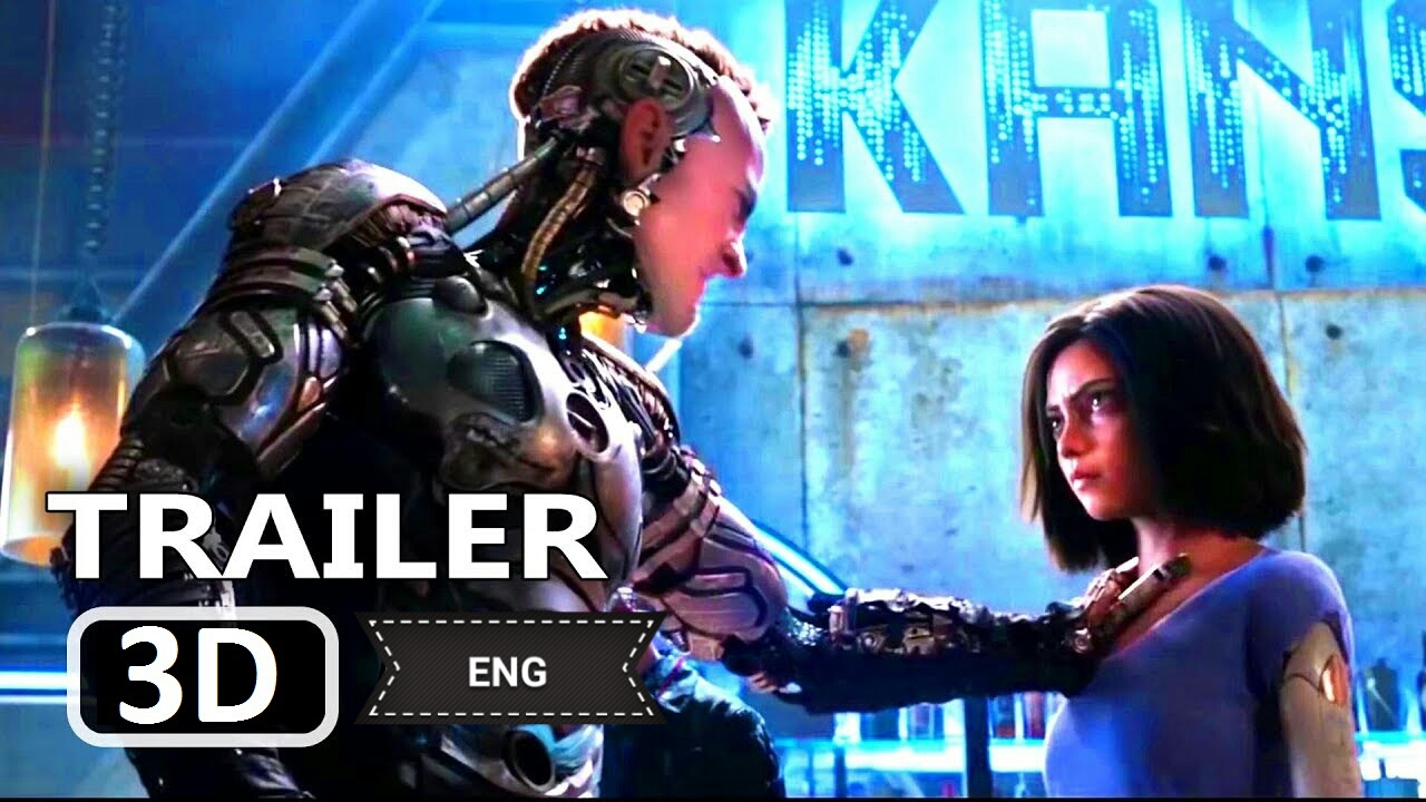 Alita - Battle Angel Official 3D 2018 Trailer 20th Century FOX