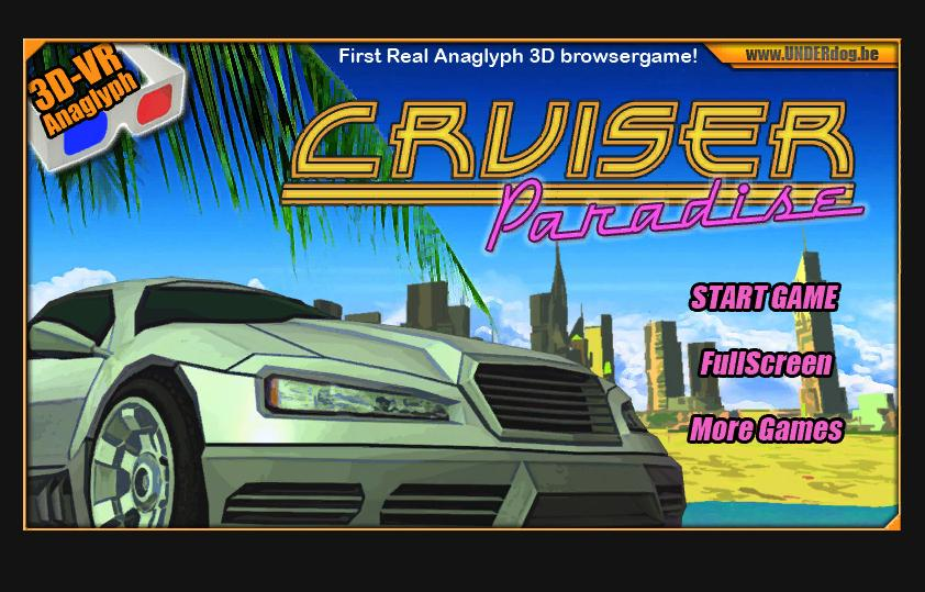 Cruiser paradise 3D ANAGLYPH online game UNITY 3D
