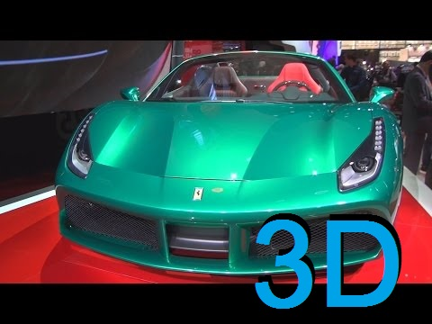 Ferrari 488 Spider 70th Anniversary (2017) Exterior and Interior in 3D