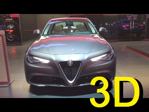 Alfa Romeo Giulia Lusso 2.2 Turbo Diesel 180 hp RWD AT8 (2017) Exterior and Interior in 3D