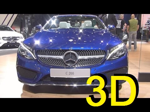 Mercedes-Benz C 200 Cabriolet Sportline (2017) Exterior and Interior in 3D