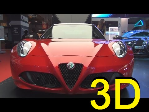 Alfa Romeo 4C Spider Standard Edition 1750 Tbi 240 hp (2017) Exterior and Interior in 3D