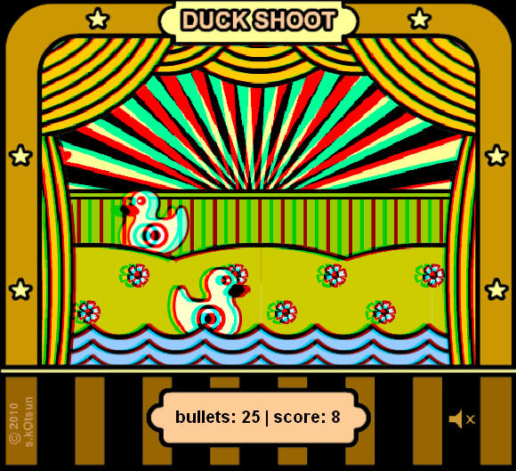 Duck Shoot 3D ANAGLYPH online game