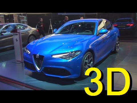 Alfa Romeo Giulia Veloce 2.0 Turbo Petrol 280 hp AWD AT8 (2017) Exterior and Interior in 3D