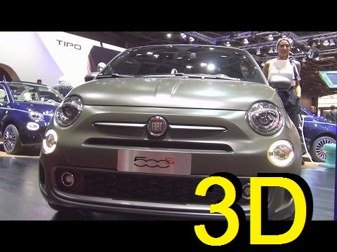 Fiat 500S TwinAir 0.9 105hp Turbo Start&Stop (2017) Exterior and Interior in 3D