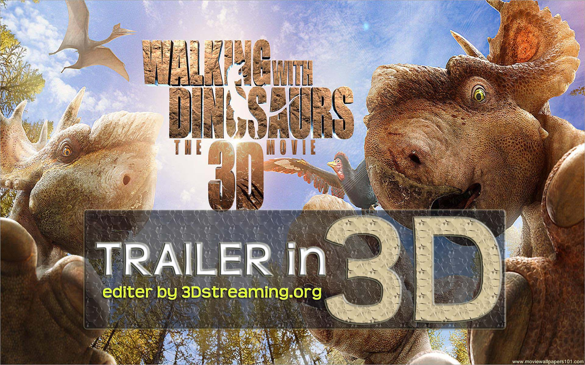 Walking With Dinosaurs Trailer in 3D ENG + MultiSub yt3d