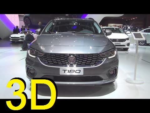 Fiat Tipo Station Wagon Lounge 1.4 T-Jet 120 hp (2017) Exterior and Interior in 3D