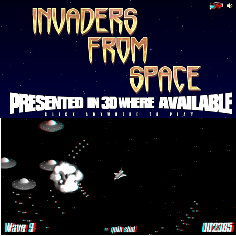 Invaders From Space 3D ANAGLYPH online game