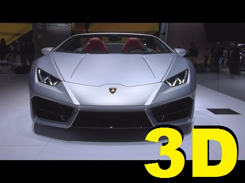 @Lamborghini Huracán RWD Spyder (2017) Exterior and Interior in 3D