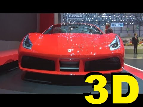 @Ferrari 488 Spider (2017) Exterior and Interior in 3D